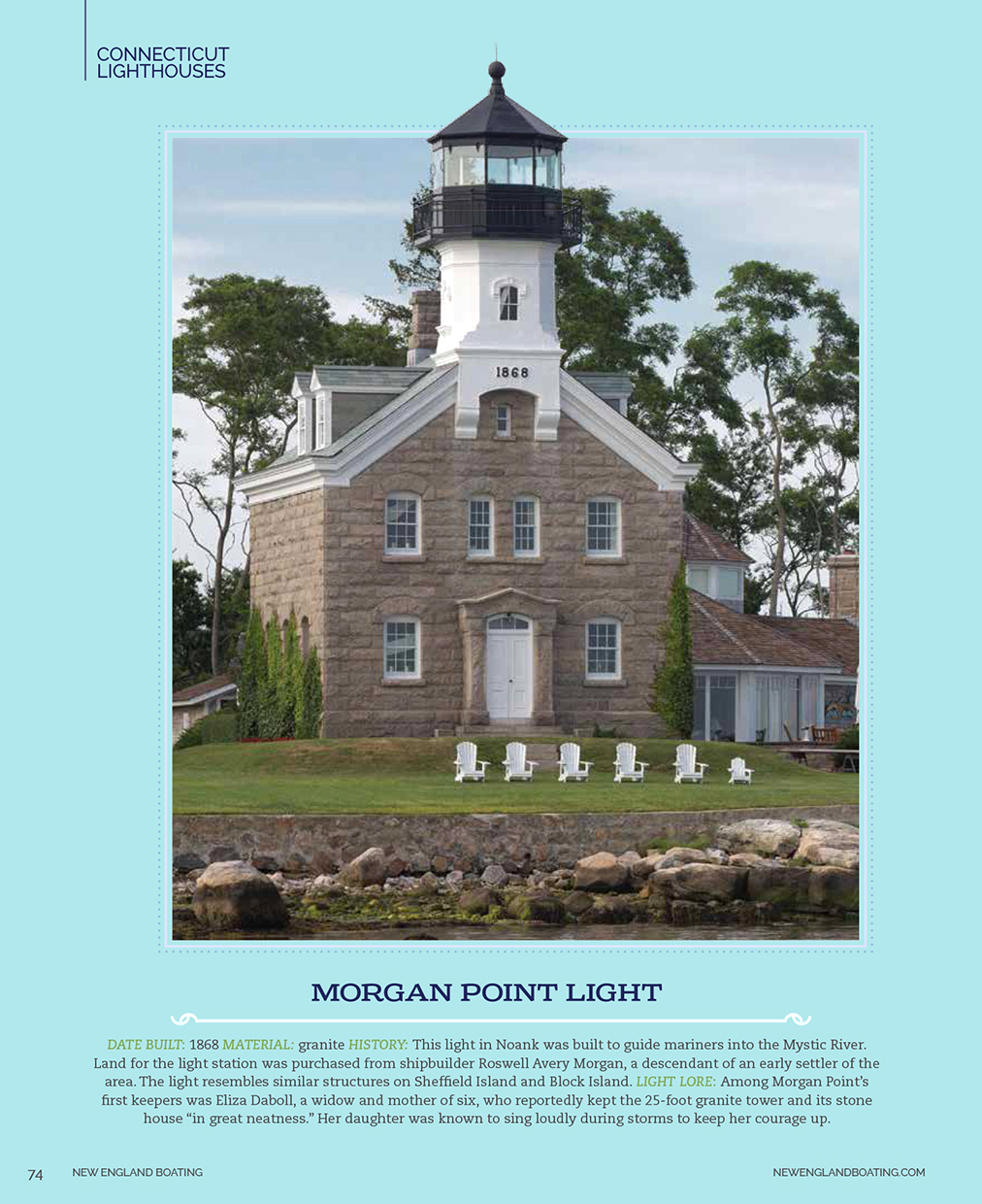 New-England-Boating-Morgan-Point-Light-Caryn-B-Davis