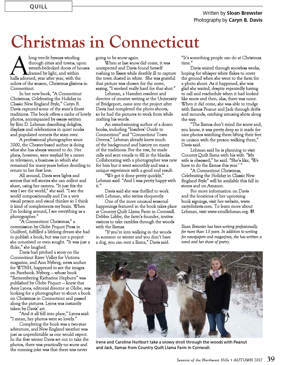 Seasons-Magazine-Caryn-B-Davis-A-Connecticut-Christmas-Country-Quilt-Llama